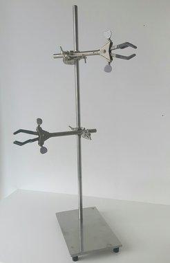 Laborstativ mit Kreuzmuffen + Klemme